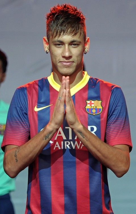 Brazil's hopes for winning the World Cup in Brazil rest on the shoulders of this man, Neymar Jr #WC2014