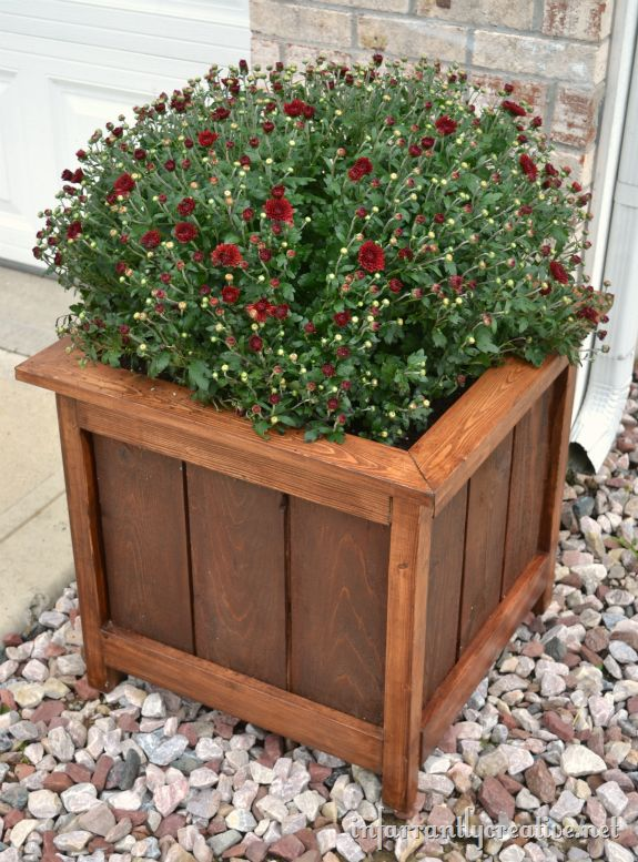 Wooden Garden Planters Ideas square wooden planters love these How To Make A Cedar And Pine Planter On The Cheap