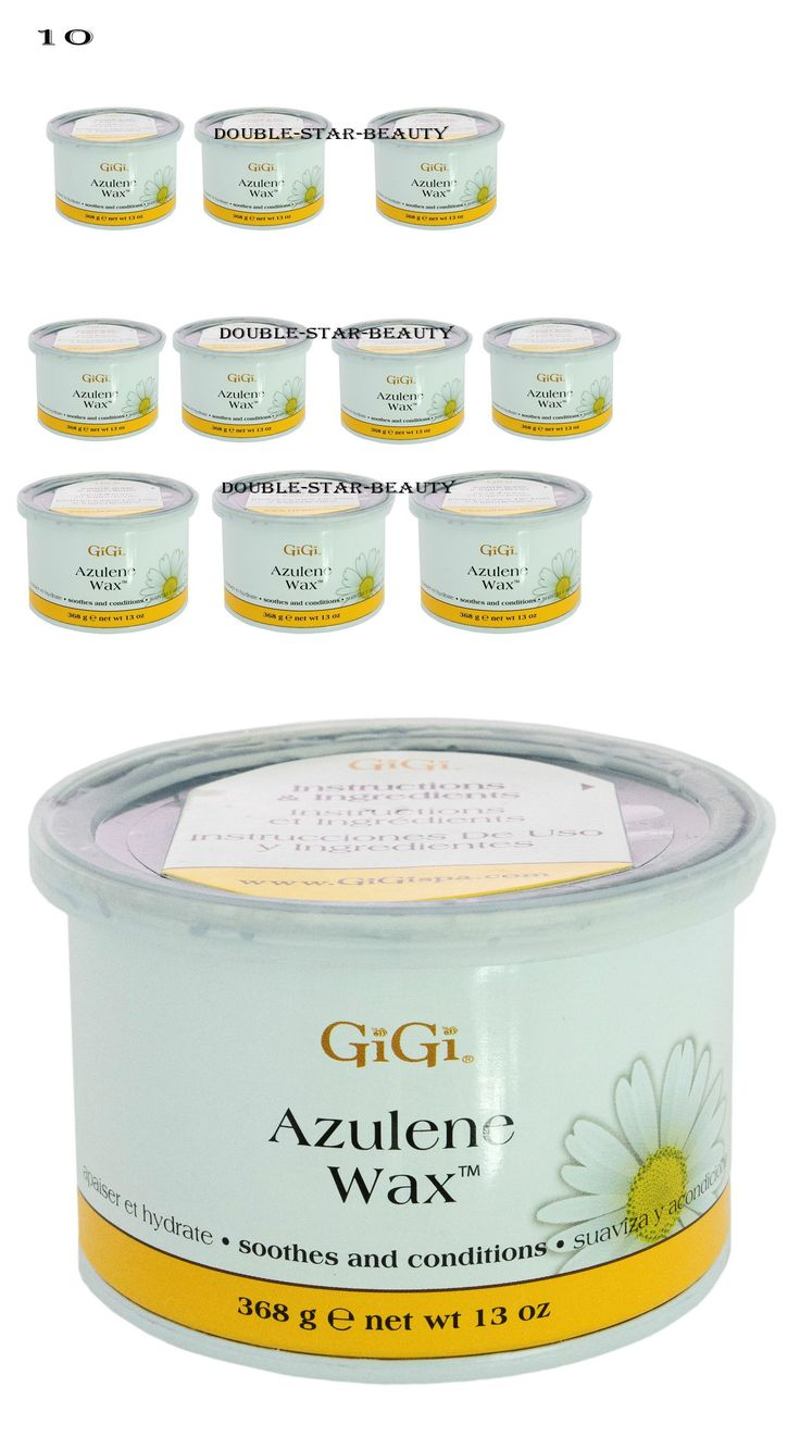 Waxing Supplies: 10 Cans Of Gigi Azulene Oil Wax, Hair Removal Soft, Smooth Skin, 13 Oz BUY IT NOW ONLY: $70.98