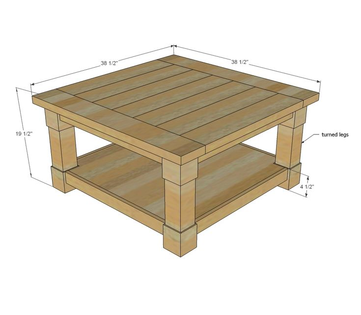 Average Square Coffee Table Size