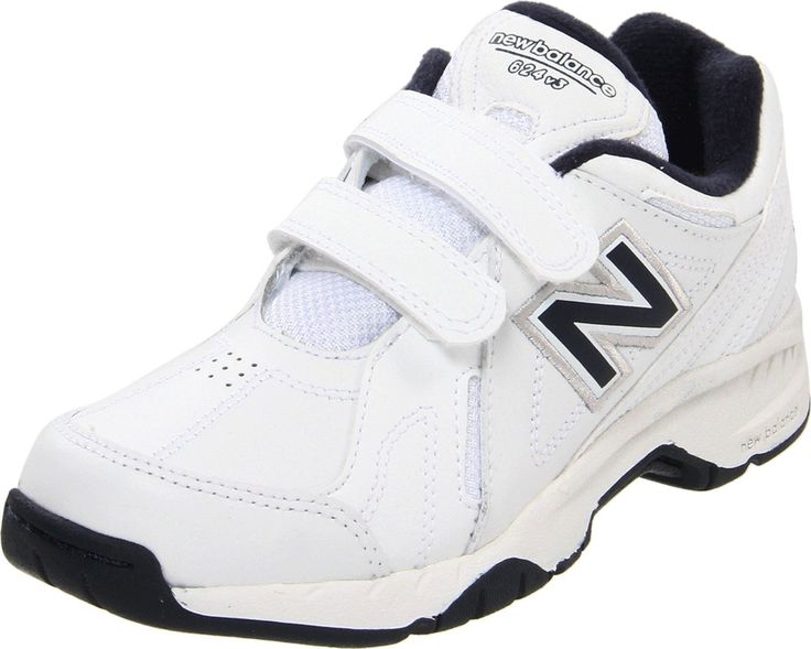 New Balance KV624 Hook and Loop Training Shoe (Little Kid/Big Kid), Black, 37 W EU