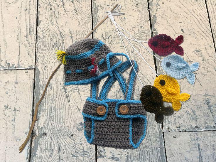 Baby Fishing Hat Fishing Hat Crochet Fishing Hat Fishing