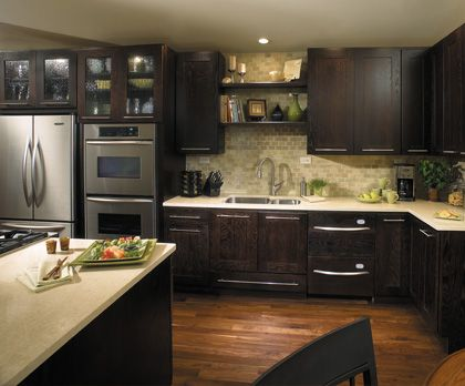 The Look Of The Dark Java Cabinets Mike Kitchen Cabinets Kitchen Cabinet Remodel