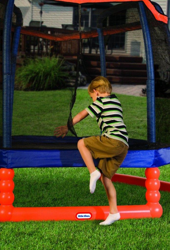 Children's Trampoline Review: Little Tikes 7' Trampoline #kids_trampoline #Kid_Trampoline #Children's_Trampoline #Trampolines_for_Kids #Little_Tikes_7'_Trampoline #Kids_Trampoline_with_Enclosure #trampoline_reviews