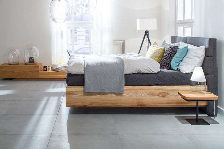 BOXSPRING bed made from ash wood II mazzivo furniture design