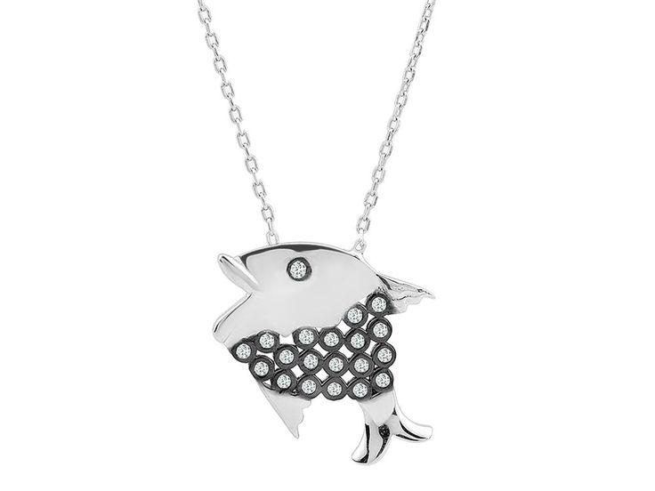 Gümüş Balık Kolye