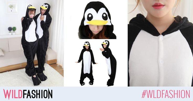 Fii cel mai simpatic si pufos pinguin cu aceasta pijama haioasa! Like & Shop now!