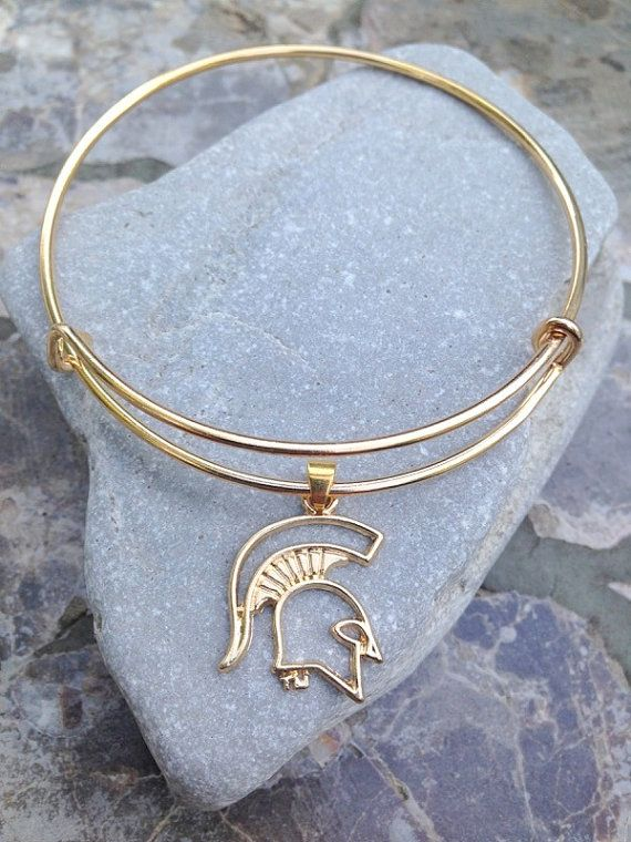 Michigan State Spartans Alex and Ani inspired by InspireElegance ~In silver. N