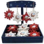 Kit de 36 colgantes de madera para arbol de navidad con expositor