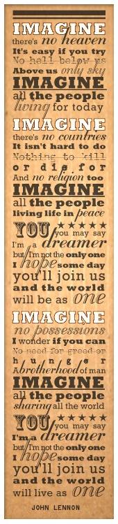 """""""MY WISH 2013""""    Words by John Lennon """"Imagine""""  Typography by Daniel Wermuth c/o wermuthgrafik.ch ©2012"""
