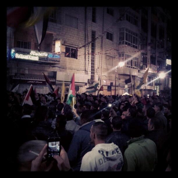 @lodgaard | Around the stage Abbas ' #UNbid speech seemingly sparked much excitement