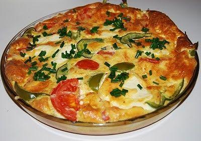 Frittata z serem i pomidorem