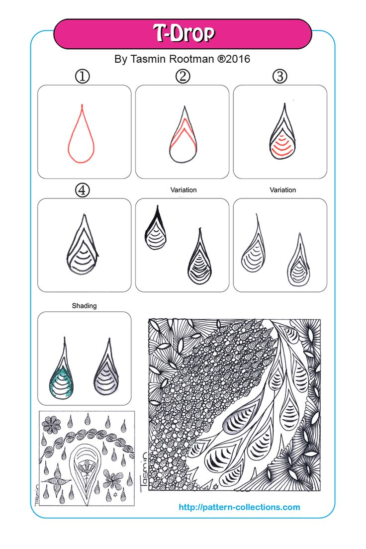t-drop tangle pattern -by-tasmin-rootman  PatternCollections.com