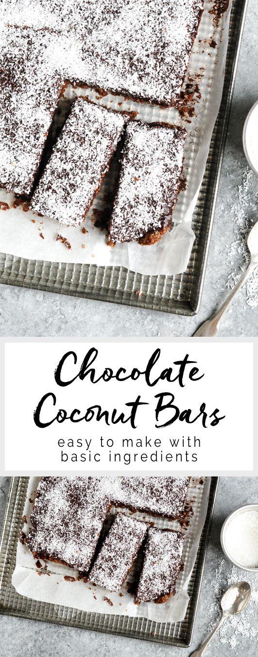 Chocolate Coconut Bars | Australian Womens' Weekly | eatlittlebird.com