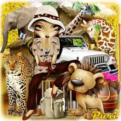 "MI RINCÓN GÓTICO: CT for Kizzed by Kelz, """"African Safari"""""""