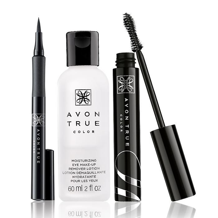 AVON TRUE COLOR WIDE AWAKE MASCARA SET: You can get this limited edition $22 value set for $5 with your $40 purchase online! Set includes: Avon True Color SuperExtend Precise Liquid Pen in Black, Avon True Color Moisturizing Eye Makeup Remover Lotion & Avon True Color Wide Awake Mascara in Black. Offer valid while supplies last, limit one per customer.