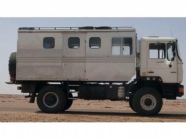 MAN 17.232 going to be a expedition vehicle. The build will be ready in may/june 2017. This is how we bought it. It will get a total make-over to a luxury vehicle.