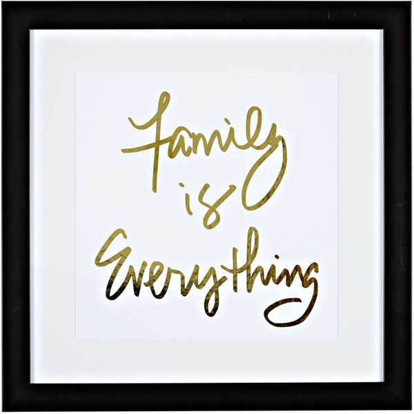 """Family is Everything Wall Art, 18"""" x 18"""" Gordmans ❤ liked on Polyvore featuring home, home decor, wall art and framed wall art"""