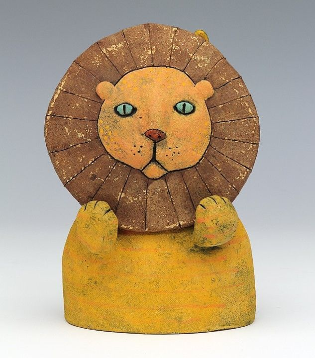 how to make a lion out of clay