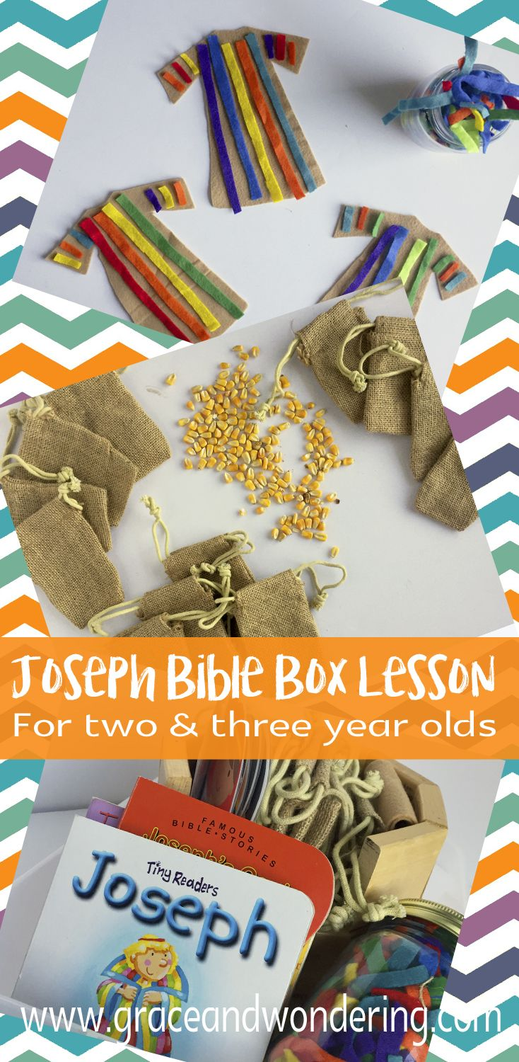 Joseph Bible Box Lesson for 2 and 3 year olds