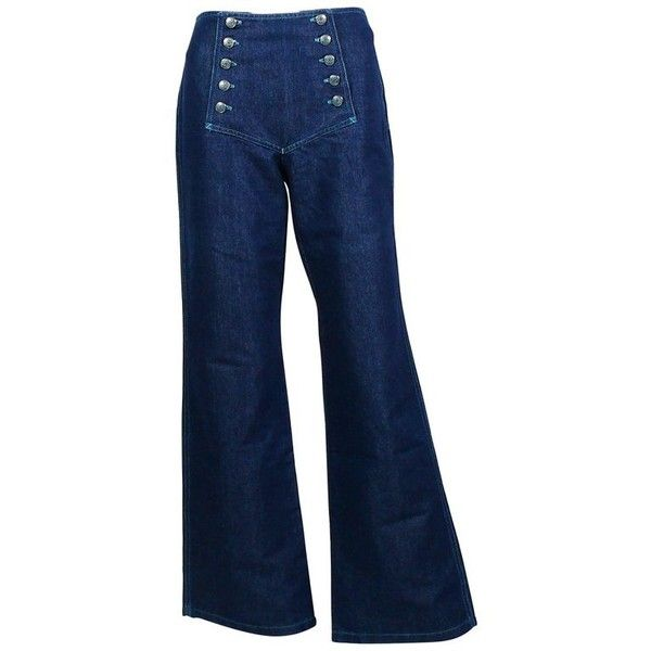 Preowned Jean Paul Gaultier Vintage Iconic Sailor Jeans ($565) ❤ liked on Polyvore featuring jeans, black, sailor jeans, tailored jeans, jean paul gaultier jeans, tear jeans and jean-paul gaultier