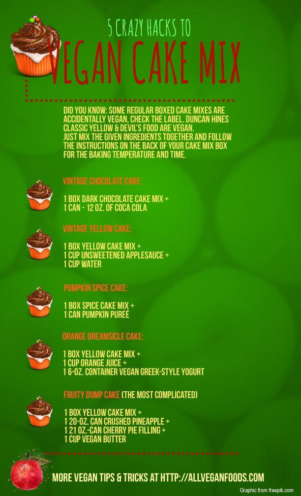 5 crazy vegan cake mix hacks
