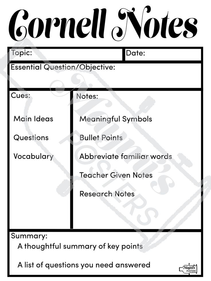 Best Cornell Notes Images On   Cornell Notes