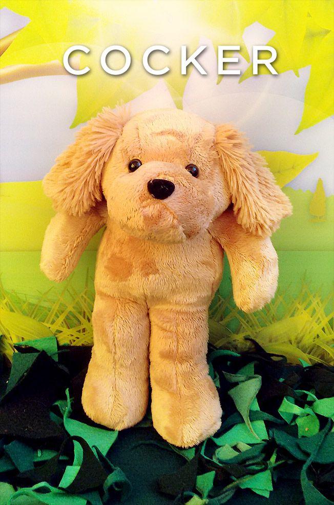 El COCKER SPANIEL es una raza de perro originaria de Gales.  Fue desarrollada con la finalidad de perseguir a las gallinetas arreándolas de sus escondites en los arbustos. Es un perro recomendable como mascota de compañía para aquellos que disfrutan del campo.  #dog#puppy#perrito#cocker#toy#peluche