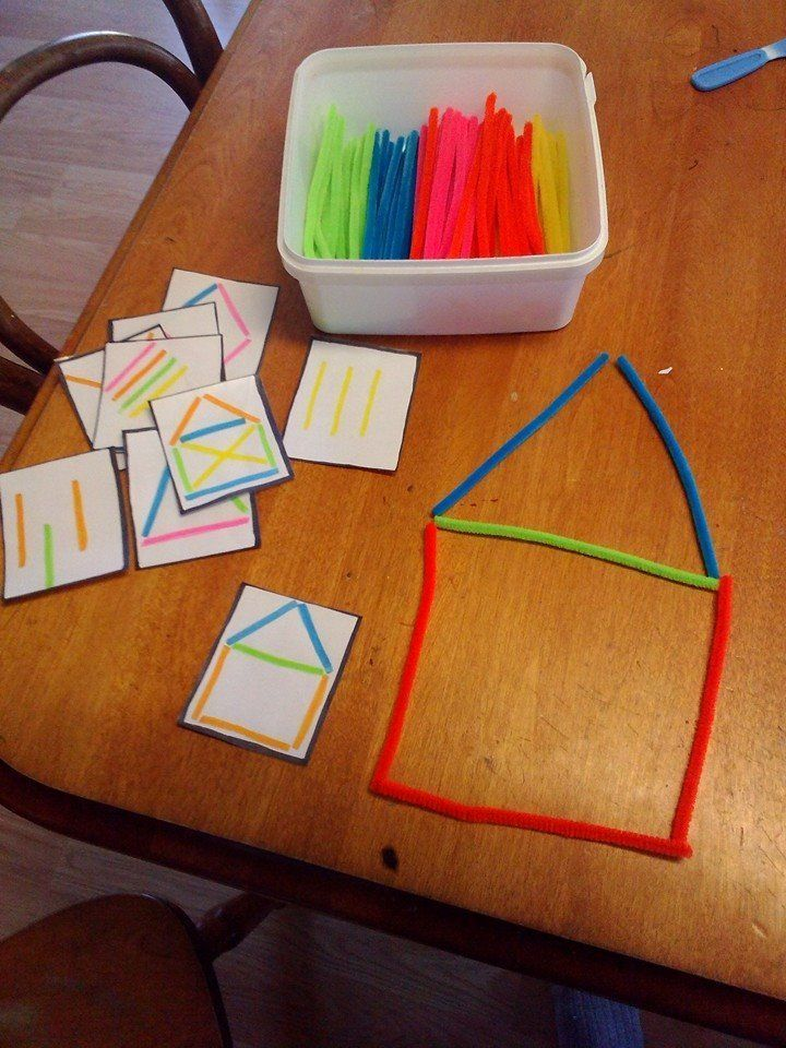 prepare toddler for handwriting activities. You make holes and then kids have to…
