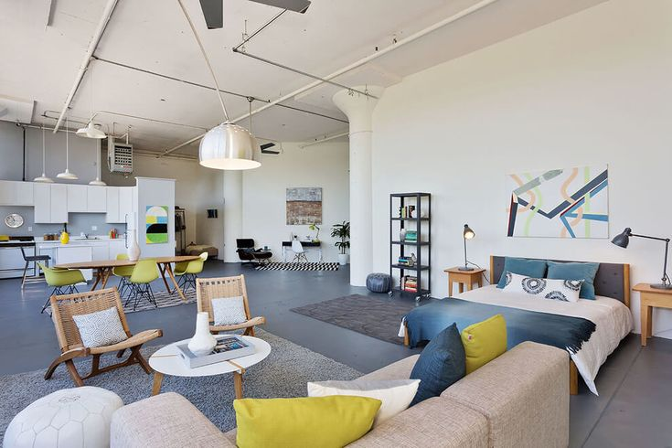 Industrial Loft Apartment Designed By Visual Jill Interior Decorating Situated In Emeryville California United States