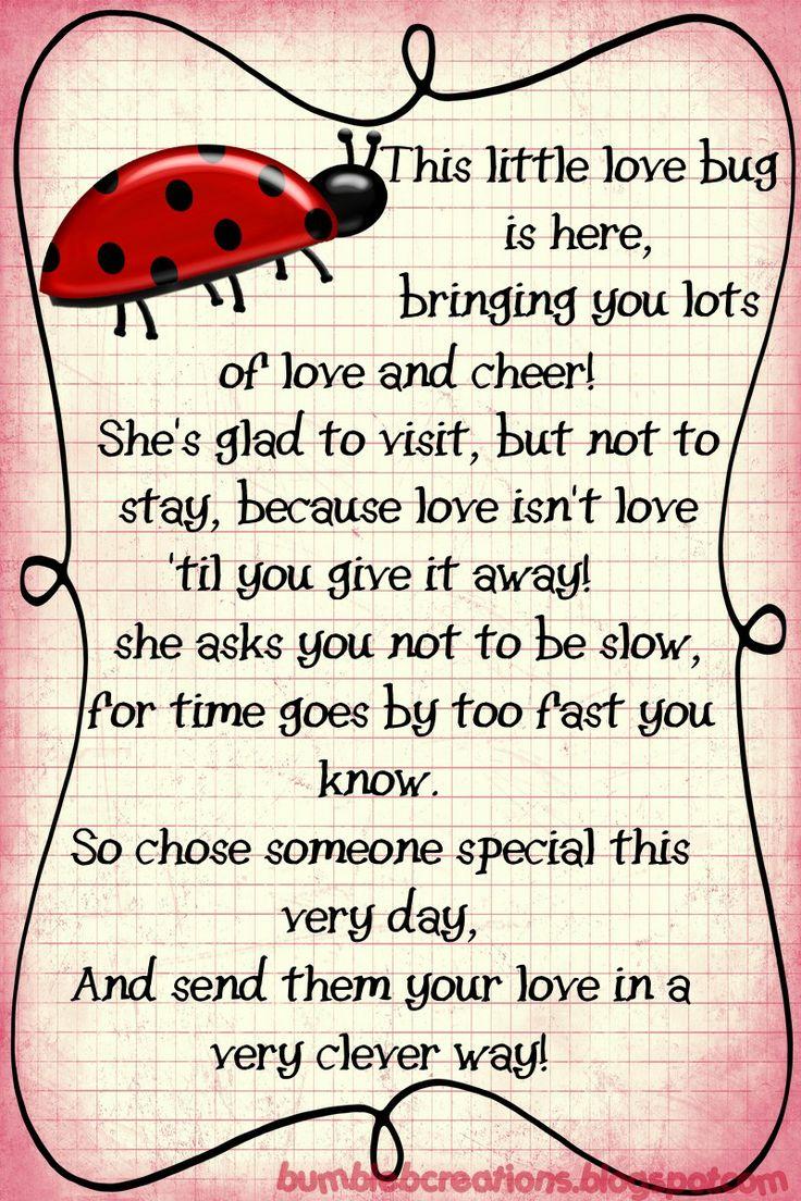 Pin By Linda Kastuk On Valentines Day Ladybug Quotes