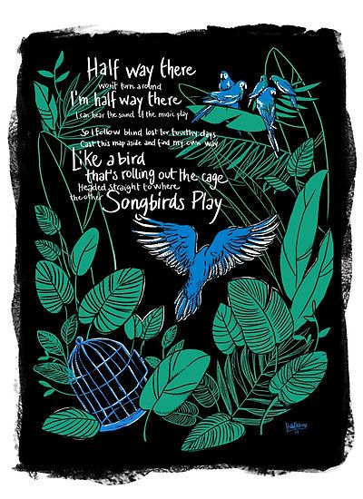 """Halfway There - Molotov Jukebox - Illustration - Song - Tropical Gipsy - Natalia Tena - Nymphadora Tonks - """"Like a Bird that's rolling out the cage, headed straight to where the other Songbirds Play"""""""