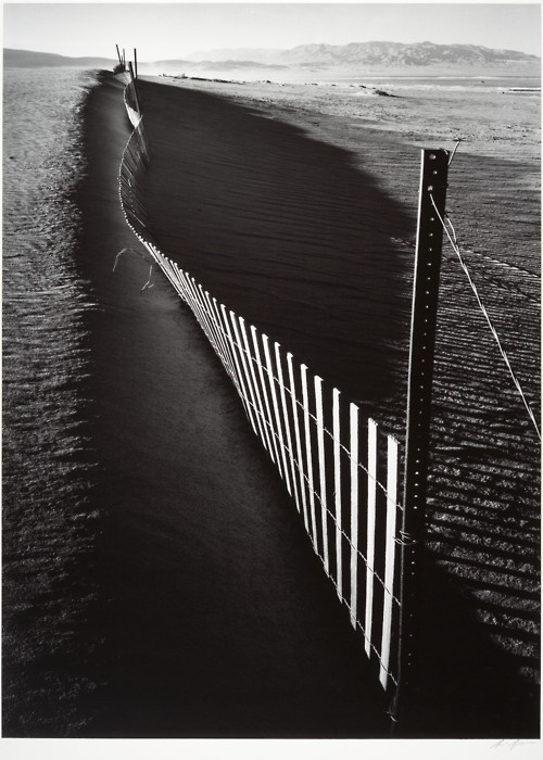 Sand Fence, Keeler, California; Ansel Adams. 1948  via Metmuseum