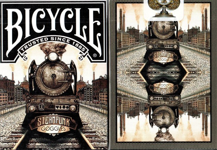 Bicycle Limited Edition Steampunk Goggles Playing Cards Now available at http://www.playingcards4magic.com/
