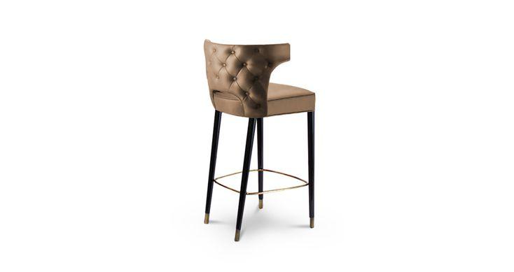 KANSAS Modern Bar Chairs | Upholstered Bar Stools | Bar Chairs | Modern Chairs #Restaurantinteriordesign #restaurantinteriors #hospitalityfurniture | Read more: https://www.brabbu.com/en/upholstery/