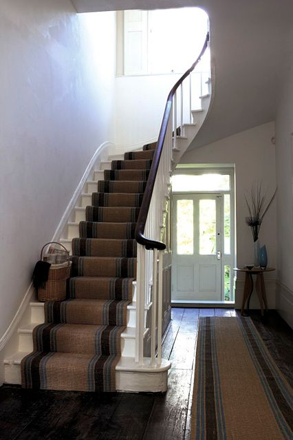 Uniformed striped runners are an easy way of smartening up a hallway, and you can always take them with you if you move.