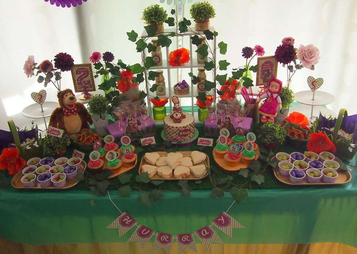 Masha & The Bear / Teddy Bear Picnic Birthday Party Ideas | Photo 5 of 35 | Catch My Party