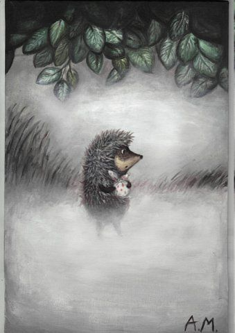 Hedgehog in the fog by anjanim