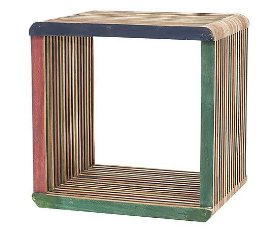 Столик - тиковое дерево вторичной переработки - 41x33x41