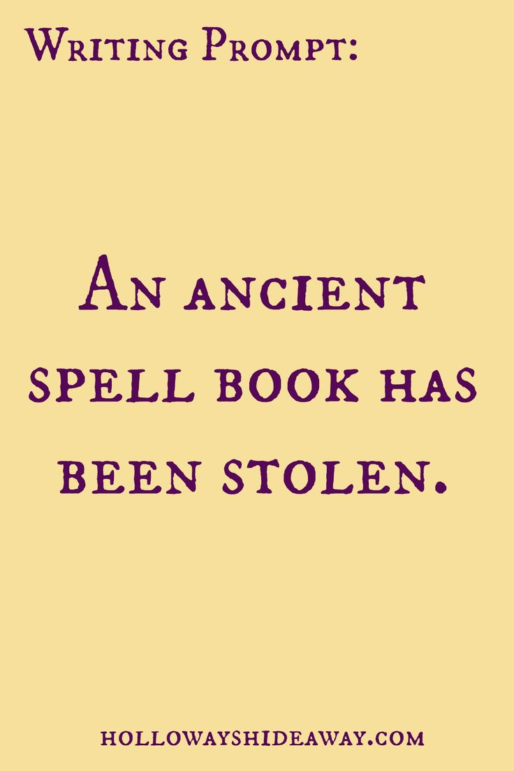 Fantasy Prompts-August 2016-An ancient spell book has been stolen.