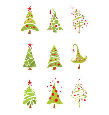 Funny+christmas+trees+vector+595445+-+by+imagination13 on VectorStock®