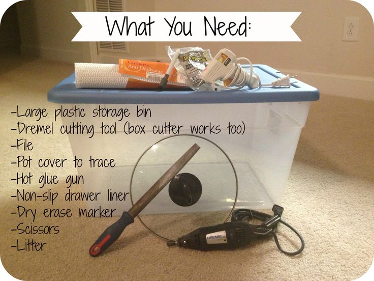 make a top to cover a foil pan | This DIY top entry litter box is cheap (if not free), practical, and ...