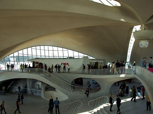 TWA Flight Center, TWA JFK, TWA JFK terminal, JFK Eero Saarinen Terminal, JFK Saarinen terminal, New York Saarinen terminal, Eero Saarinen a...
