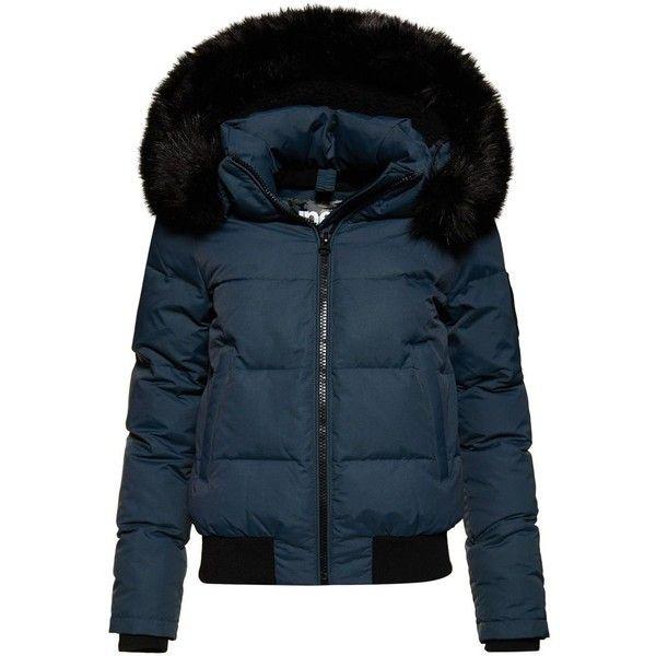9153e22ec Superdry Everest Ella Bomber Jacket (£80) ❤ liked on Polyvore ...