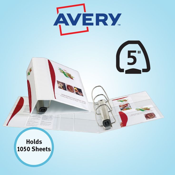 Avery Heavy-Duty View Binder EZD-Ring 5 inch White Each