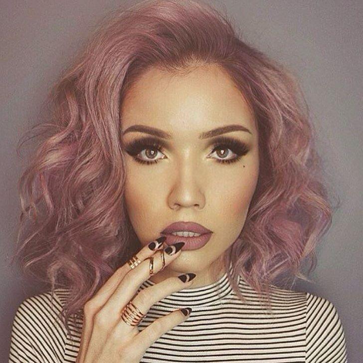 Dusty rose colored hair