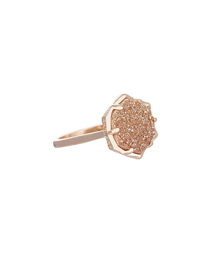 Kylie Ring in Champagne Drusy - Kendra Scott Jewelry. Coming soon!