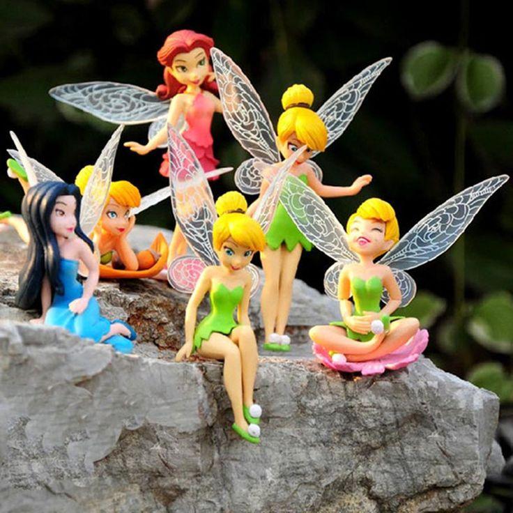6 Шт./компл. Рождественский Подарок Детям Tinkerbell Куклы Летающие Цветочная Фея Детская Анимация Мультфильм Игрушки Девушки Куклы Детские Игрушки #shoes, #jewelry, #women, #men, #hats