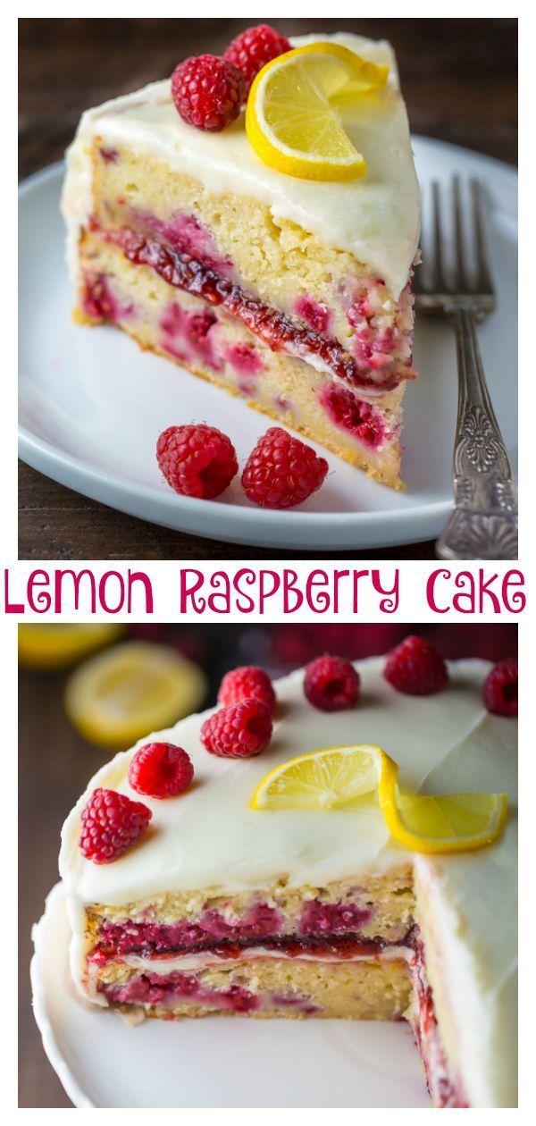 Lemon Raspberry Cake Recipe Raspberry Cake Cake Recipes
