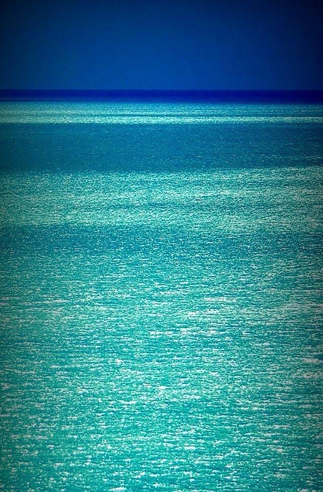 Turquoise Glitter Ocean